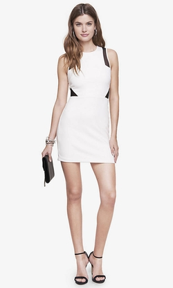 Express - Contrast Sleeveless Sheath Dress