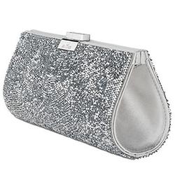 Swarovski - Power Rock Silver Evening Bag