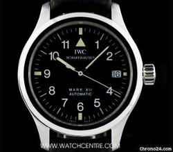 IWC  - Stainless Steel Pilots Mark XII Black Dial Gents