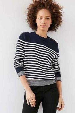BDG  - Lucky Day Striped Crew-Neck Sweater