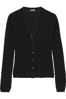 MIU MIU  - Cashmere and silk-blend cardigan