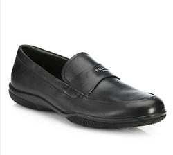 Prada  - Leather Logo Loafers