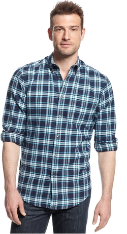 John Ashford - Long-Sleeve Plaid Flannel Shirt