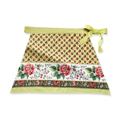 William-Sonoma - Floral Border Half Apron