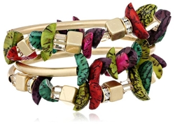 Kenneth Cole New York - Multi-Colored Mixed Bead Stretch Bracelet