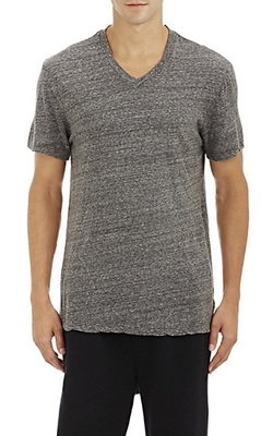 James Perse - Square-Graphic V-Neck T-Shirt