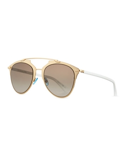 Dior - Reflected Two-Tone Aviator Sunglasses