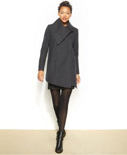 Rachel Roy  - Wool-Blend Draped Coat