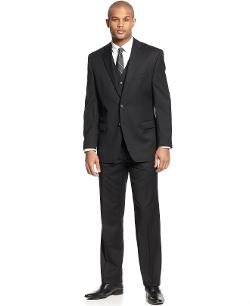 Ralph Lauren  - Black Solid Vested Suit