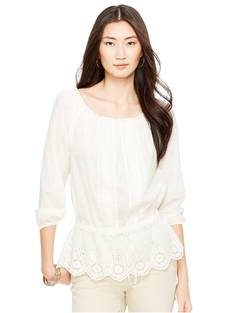 Ralph Lauren - Cotton Eyelet Top