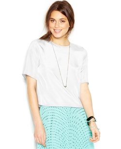 Maison Jules - Short-Sleeve Crew-Neck Cropped Top