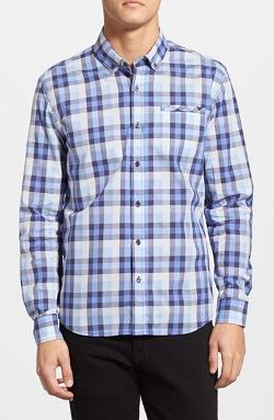 7 Diamonds  - Computer Blue Plaid Sport Shirt