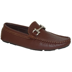 Shoe Artists - Brown Slip on Loafer Shoes