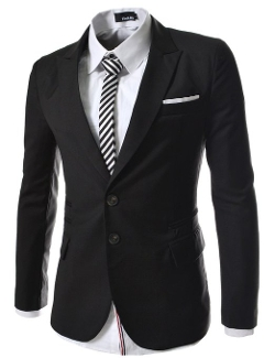 The Lees - Mens Casual Peak Lapels 2 Button Jacket
