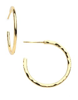 Lord & Taylor  - Small Hammered Hoop Earrings