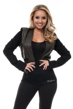 Virgin Only - Faux-Leather Blazer