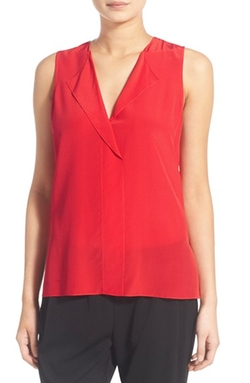 Trouvé - V-Neck Sleeveless Silk Top