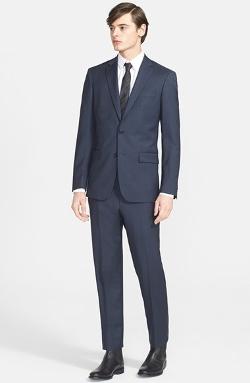 John Varvatos Star Usa - Trim Fit Check Suit