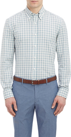 Salvatore Piccolo  - Check Slub-Weave Shirt