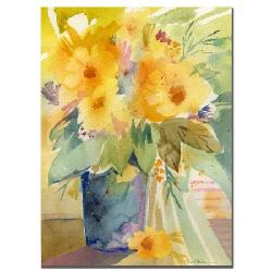 Trademark Fine Art  - Yellow print by Sheila Golden