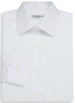 Yves Saint Laurent - Regular-Fit Cotton Dress Shirt