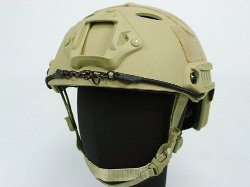 Airsoft  - FAST Carbon Style Helmet Tan