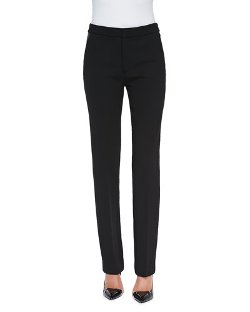 Cushnie et Ochs   - Slim Leather-Trim Trousers