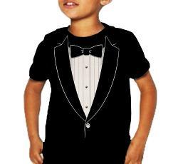 "BeWild - Kids ""Classic"" Tuxedo T-Shirt (Black)"