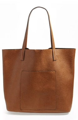 Street Level - Faux Leather Pocket Tote