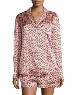 Olivia von Halle   - Alba Mizuki Printed Shorty Pajama Set