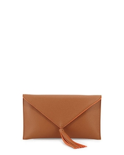 Neiman Marcus - Faux-Leather Envelope Clutch Bag