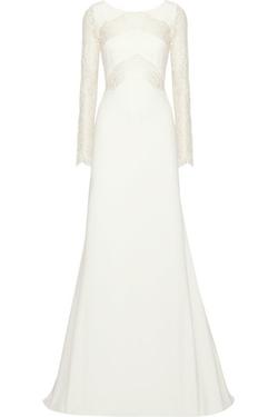 Rime Arodaky - Olsen Lace-Paneled Twill Gown