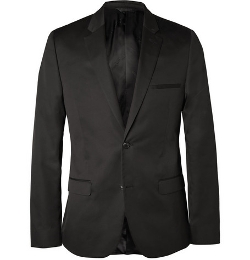 Calvin Klein Collection   - Black Crosby Cotton And Silk-Blend Suit Jacket