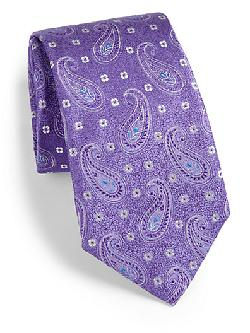 Saks Fifth Avenue Collection  - Bali Paisley Silk Tie
