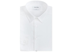 Calvin Klein STEEL  - Slim-Fit Solid Performance Dress Shirt