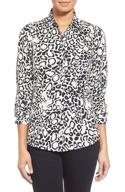 Foxcroft - Modern Leopard Print Shirt