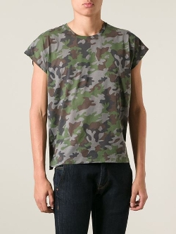 Saint Laurent - Camouflage Print T-Shirt