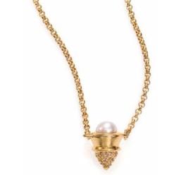 Eddie Borgo - Mabe Pearl & Pave Crystal Cone Pendant Necklace