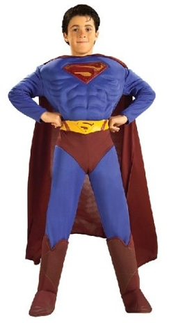Superman, Dc Comics, Trevco - Deluxe Muscle Chest Superman Costume