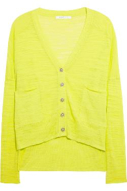 Duffy  - Neon Burnout Cotton-blend Cardigan
