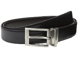 Calvin Klein  - Reversible Feather Edge Strap Buckle w/ Logo