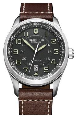 Victorinox Swiss Army - Airboss Automatic Leather Strap Watch