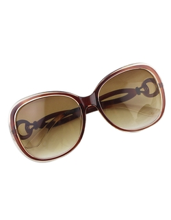 Romwe - Oversized Fashionable Brown Sunglasses