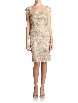 Sue Wong - Embellished Squareneck Sheath