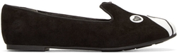 Marc by Marc Jacobs   - Black & White Suede Shorty Loafers