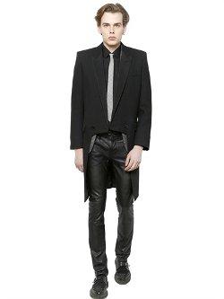 Saint Laurent  - Wool Crepe Tailcoat