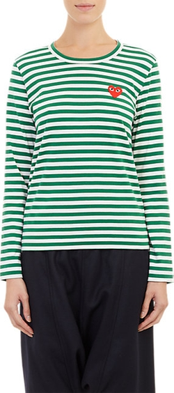 Comme Des Garcons PLay - Stripe Long Sleeve T-Shirt