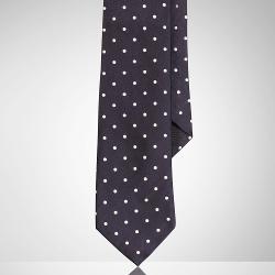 Ralph Lauren - Polka-Dot Silk Satin Tie