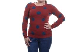 Grace Elements  - Embellished Polka-Dot Sweater