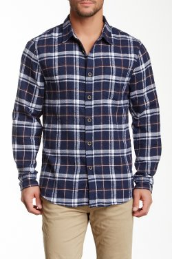 Jachs  - Long Sleeve Plaid Flannel Shirt